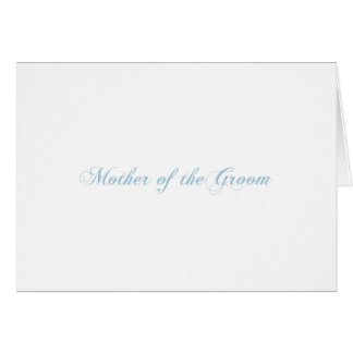 Mother of the Groom Aquamarine Card
