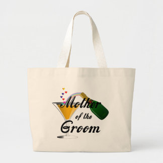 Mother of the Groom Champagne Toast Large Tote Bag