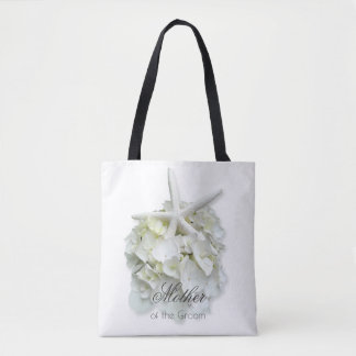 Mother of the Groom White Floral Starfish Bag