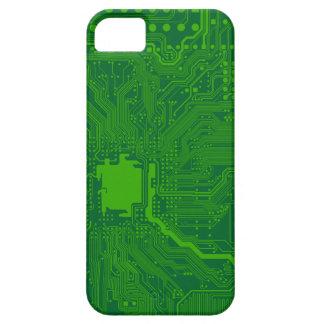 motherboard computer circuit - dark green iPhone 5 cases