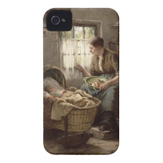 Motherly Affection (oil on canvas) Case-Mate iPhone 4 Cases