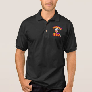 Mother's BBQ Men's Polo Shirt w/Flames
