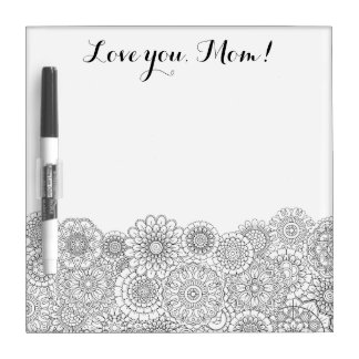 Mother's Day Adult Coloring Dry Erase Board SMALL