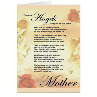 Mothers Day Card Standard white envelopes included