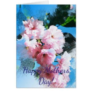 """Mothers Day"" Cherry Blossom Card"