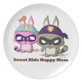 Mother's Day Gift Cute Cartoon Dish Funny Plate