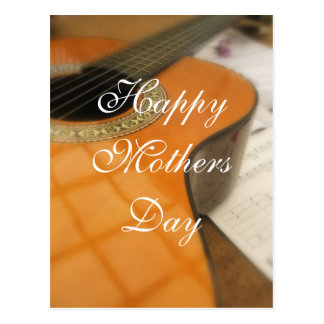 Mothers Day guitar greeting Postcard
