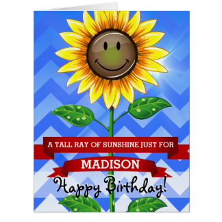 Mother's Day or Birthday Sunflower Custom Big Card