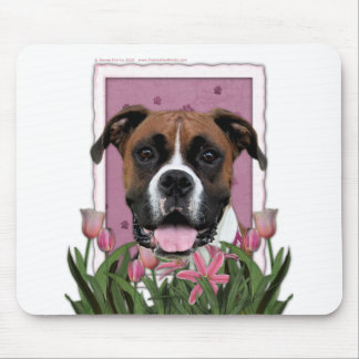 Mothers Day - Pink Tulips - Boxer - Vindy Mouse Pad