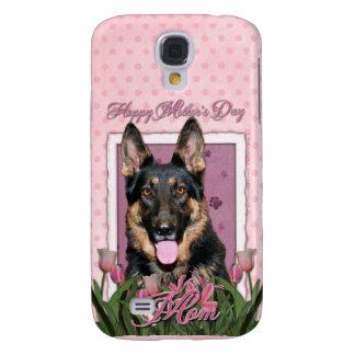 Mothers Day - Pink Tulips - German Shepherd - Kuno Galaxy S4 Case