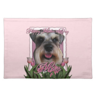 Mothers Day - Pink Tulips - Schnauzer Placemat