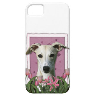 Mothers Day - Pink Tulips - Whippet Barely There iPhone 5 Case