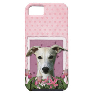 Mothers Day - Pink Tulips - Whippet Tough iPhone 5 Case