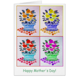 Mother's Day Window Flower Box Greeting Card