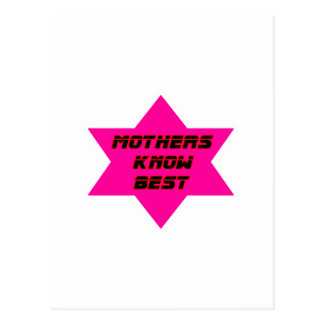 Mothers Know Best Magenta The MUSEUM Zazzle Gifts Post Cards
