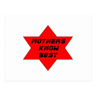 Mothers Know Best Red The MUSEUM Zazzle Gifts Postcards