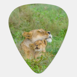 Mother's Love Lioness & Baby Guitar Pick