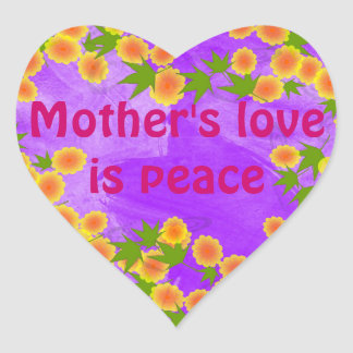 Mother's love stickers