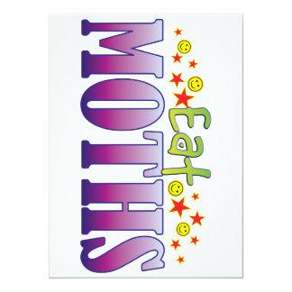 Moths Eat 14 Cm X 19 Cm Invitation Card