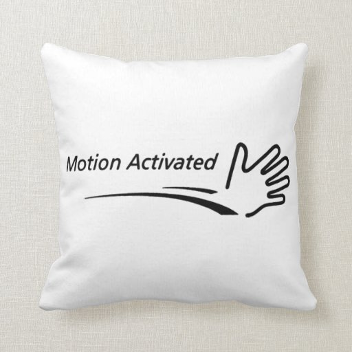 Motion Activated! Throw Pillow