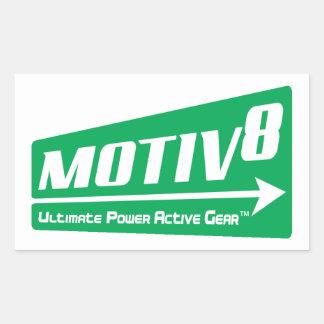 MOTIV8 Ultimate Power Active Gear TM Rectangular Sticker