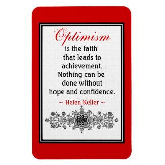 Motivational Helen Keller Quote Magnet Optimism