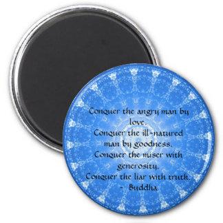 Motivational Inspirational Buddha Quote 6 Cm Round Magnet