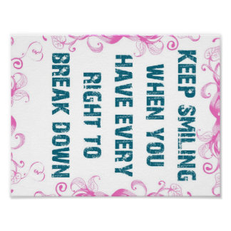 Motivational Keep Smile Quote Poster