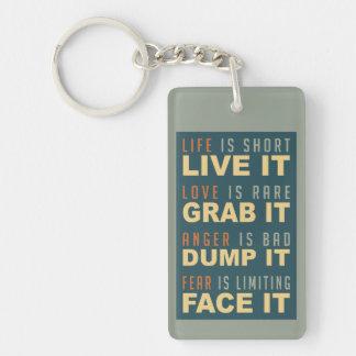 Motivational Life Advice custom key chain