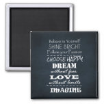 Motivational Quote Affirmations Square Magnet