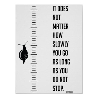 Motivational quote by Confucius Poster