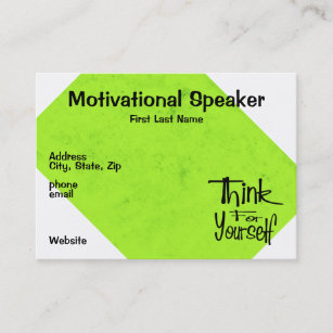Motivational speaker business cards zazzle nz motivational speaker business card colourmoves