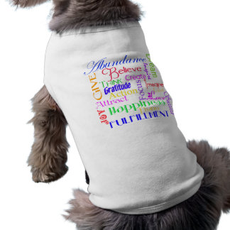 Motivational Word Collage Pet Clothing