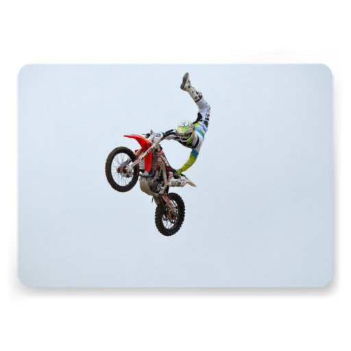Motocross Freestyle Personalized Invitation