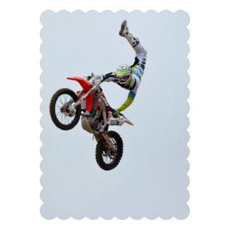 Motocross Freestyle Custom Invitations