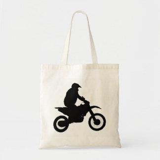 Motocross Silhouette Tote Bag