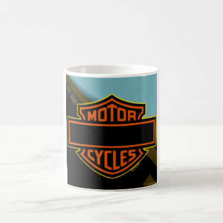 Motor Cycle coffee cup add your text Basic White Mug
