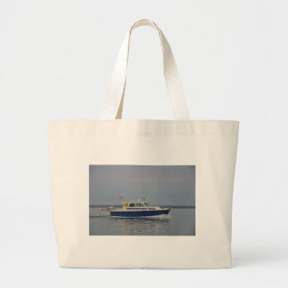 Motor Launch Lorna Adam Large Tote Bag