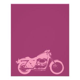 motorcycle-309413  motorcycle pink bike motorbike 11.5 cm x 14 cm flyer