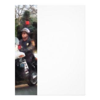 Motorcycle Cop on Patrol Flyer