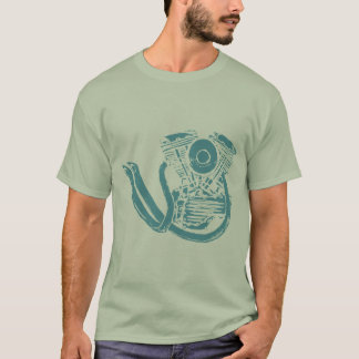 Motorcycle Engine Drawing T-Shirt