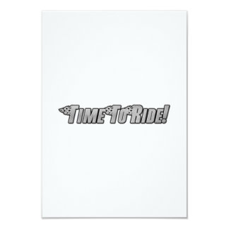 Motorcycle Flames - Time To Ride 9 Cm X 13 Cm Invitation Card