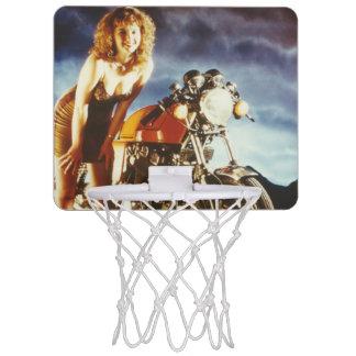 Motorcycle Pinup Girl Mini Basketball Hoop