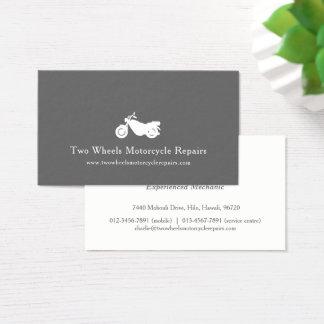 Motorcycle white modern motoring business card