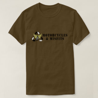 Motorcycles & Misfits Army Green T-Shirt