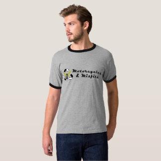 Motorcycles & Misfits Grey Ringer T-Shirt