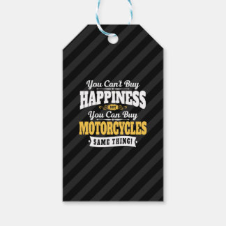 Motorcyclist Cant Buy Happiness Can Buy Motorcycle Gift Tags