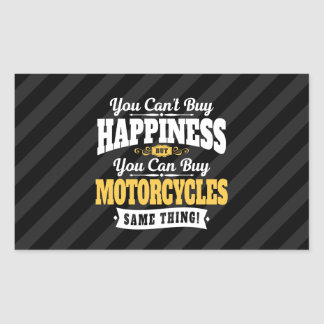 Motorcyclist Cant Buy Happiness Can Buy Motorcycle Rectangular Sticker