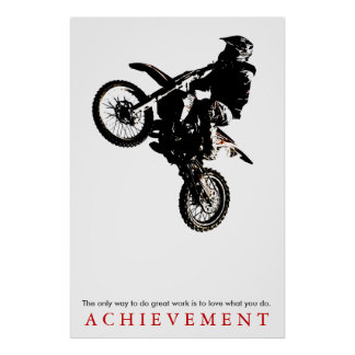 Motorcyle Sport Achievement Quote Motivational Poster