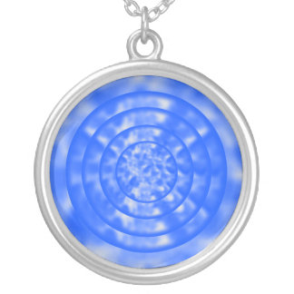 Mottled Blue and White Ripples Custom Jewelry
